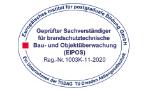 Geprüfter Sachverständiger für brandschutztechnische Bau- und Objektüberwachung (EIPOS)